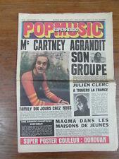 POP MUSIC SUPERHEBDO No 94 1972 PAUL MAC CARTNEY (genre BILLBOARD NME) + POSTER
