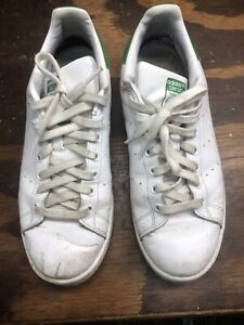 Adidas Stan Smith Womens Sz 10 B24105 Everyday Tennis Shoes Cloud White & Green