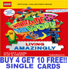 Sainsburys LEGO CREATE THE WORLD Cards 2020 Living Amazingly BUY 4 GET 10 FREE!!