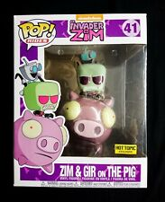 💥Funko Pop! Rides Invader Zim: Zim & Gir on The Pig [HotTopic Exclusive] #41💥