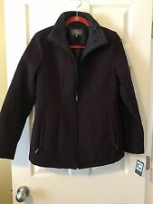 Womens Gallery Quilted Coat Size S in Eggplant Purple  Jackets  NWT RET85.00