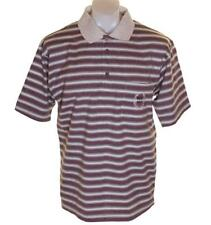 New Authentic Men's Paolo Golf Striped Polo Shirt Medium