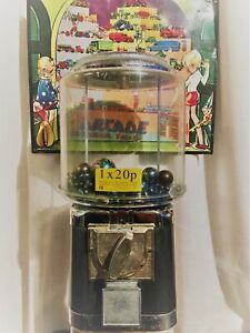 VINTAGE RETRO SWEET VENDING DISPENSING CANDY GUM BALL MACHINE