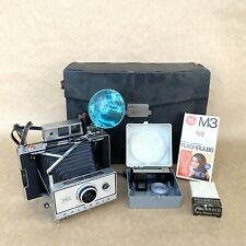 Polaroid Automatic 350 Instant Land Camera W/ Case & Accessories, VINTAGE! NICE!