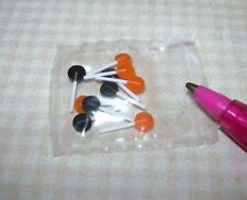 "Miniature ""Lola Originals"" 10 Tiny Halloween Lollipops Suckers: DOLLHOUSE 1/12"