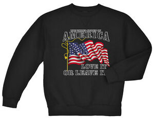 United States of America love it or leave it USA pride sweatshirt sweater sweats