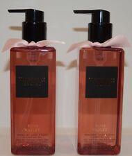 2 VICTORIA'S Secret Rose Violet fragrant hand body cleansing gel NEW 8.4 oz new