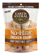 "Earth Animal NO HIDE CHICKEN DOG CHEWS 7""  2 Pak Rawhide Alternative MADE IN USA"
