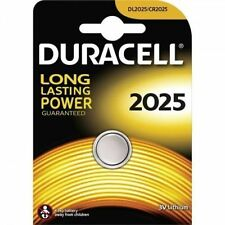 2 SINGOLO DURACELL CR2025/DL2025 3V litio moneta cella Pulsanti Batteria scadenza 2025