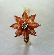 9K Gold Ceylon Padparadcha colour Sapphire ring