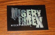 Misery Index Sticker Rectangle 2003 Promo 5x3.5