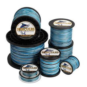 Hercules 4 8 9 12 Strands 6-300lbs PE Braid Fishing Line Blue Camo 100-2000m Cod