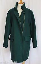 J CREW STADIUM CLOTH STANDING COLLAR COAT DARK FOREST GREEN SIZE 6 NWT B4840