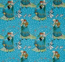 Fat Quarter Disney Frozen Fever Sisters and Olaf 100% Cotton Quilting Fabric