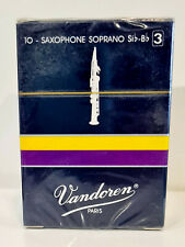 Vandoren Soprano Sax #3 Traditional Blue Box of 10 - Old Packaging
