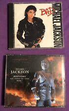 2 Michael Jackson CDs Bad & History Free Shipping