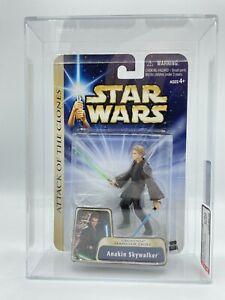 2004 Hasbro Star Wars SAGA HoF Anakin Skywalker Geonosis Figure HIGHEST AFA-U90