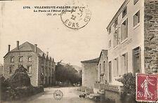 43 VILLENEUVE D' ALLIER CARTE POSTALE POSTE HOTEL PELISSIER 1922