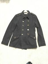 Mens Vintage Style Peacoat From Topman - Size Small