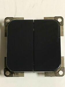 Caravan / Motorhome - C - Line Double Light Switch - Dark  Grey - PO266