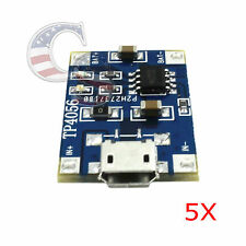 5X Tp4056 5V Micro Usb Lithium Battery Charging Board Charger Module for Arduino