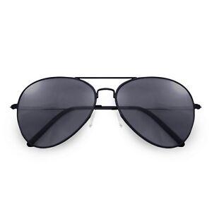 """Alpland Pilotenbrille  Sonnenbrille  """"TOP GUN """" GROßE GLÄSER XXL Schwarz"""