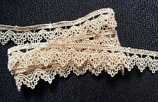 3/4 inch wide beige lace trim selling by the yard
