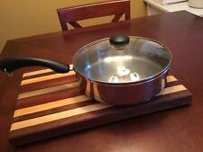 """Farberware 10"""" inch Stainless Steel Fry Pan Skillet + Lid"""