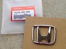 """New OEM 94-97 Honda Del Sol D16 B16 Si S Front Bumper """"H"""" Emblem Badge Mark SR2"""