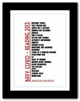 ❤  Biffy Clyro at Reading ❤ SETLIST typography art poster print - A1 A2 A3 or A4