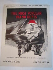 """VINTAGE PIANO POSTER FOR RETAIL SALE - 14 1/2"""" X 11"""" - TUB Q"""