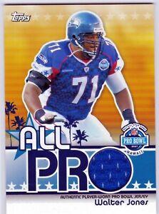 Walter Jones Seattle Seahawks HOF 2007 Topps All-Pro NFL Pro Bowl Jersey Relic ^