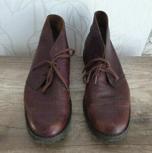 Clarks Desert Boot Leather Schuhe Stiefel Braun Größe 43 (UK 9)
