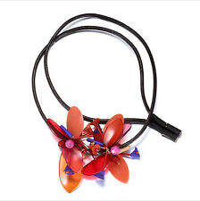 MARNI H&M Orange Flower Pendant Necklaces