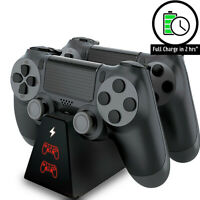 For Playstation 4 PS4 Dual Charging Charger Dock Station Stand Controller Pad