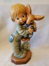 "Anri 6"" Valentine Boy ""Bunny Hug"" Sarah Kay *New* Handcarved #575/2000 Rabbit"