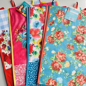 Pioneer Woman Reusable Shopping Bag Tote Classic Charm Truck Blossoms (4 Pack)