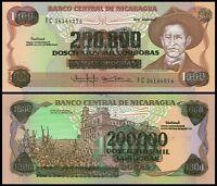 1989 P158 UNCIRCULATED NICARAGUA 10,000 CORDOBAS ND