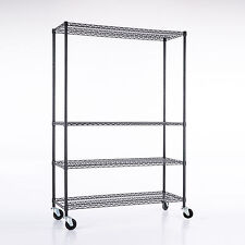 "Commercial 82""x46""x18''Wire Shelving Rack 4 Tier Adjustable Steel Shelf"