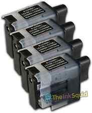 4 Cartucho de tinta negra LC900 Set para Brother Impresora DCP110C DCP111C DCP115C