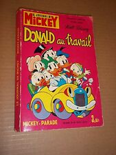 "BD ""MICKEY PARADE, no 1029 bis. DONALD AU TRAVAIL"" (1972) WALT DISNEY"