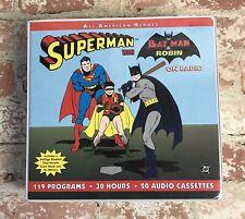 Radio Spirits Superman with Batman and Robin on Radio 1999 Rare Cassette Set