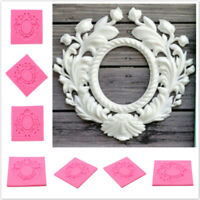 Silicone 3D Photo Frame Fondant Baking Mold Cake Chocolate Decorating Mould G