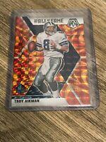 Troy Aikman 2020 Panini Mosaic Orange Reactive Prizm Hall of Fame Card #290