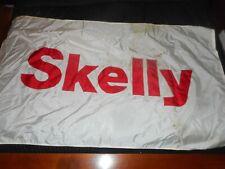 Vintage Skelly Gas Station Motor Oil Advertising Banner Flag Sign