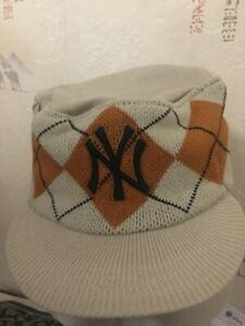 BNWT LOVELY NEW ERA CHEQUE PEAKED NEW YORK YANKEES CAPS COLOUR STONE