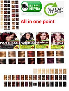 Garnier Nutrisse Crème Color Hair Dye Permanent - All Colors Available