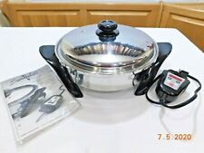 NEW SALADMASTER Electric Skillet Waterless 316L Surgical Stainless Steel K7356