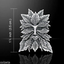 GREEN MAN PENDANT Sterling silver *  SPIRIT OF THE FOREST *  by Jessica Galbreth