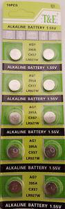 10x AG 7 Uhrenbatterie V 395 926 für Armbanduhr Knopfzelle LR926 V399 LR 927